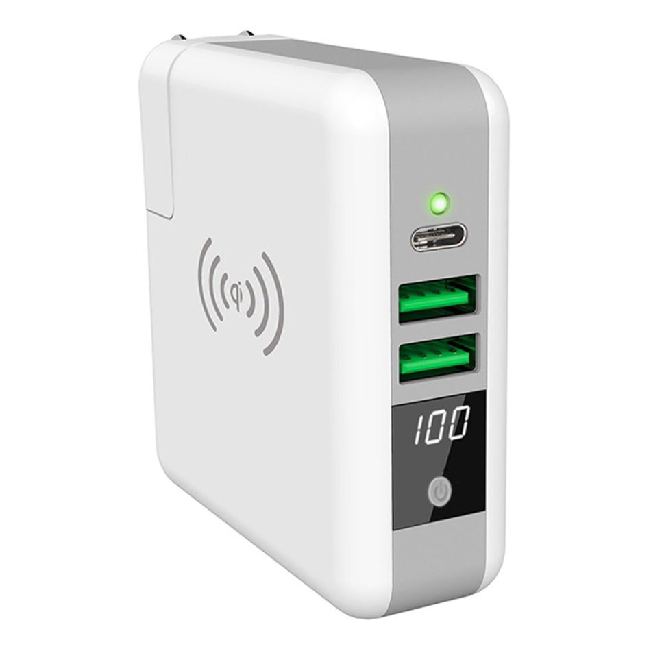best service 0b708 966d6 Qi Wireless Charging Pad + 6700mAh Power Bank + USB-C Charger